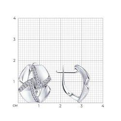 Cercei din argint SOKOLOV art 94024221 2